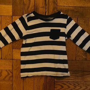 H&M Navy and white striped top